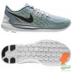 Nike Nike Free - Löparskor 5.0 Grå/Svart/Grön Barn