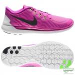 Nike Nike Free - Löparskor 5.0 Lila/Rosa/Svart Dam