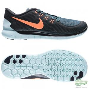 Nike Nike Free – Löparskor 5.0 Svart/Orange/Turkos