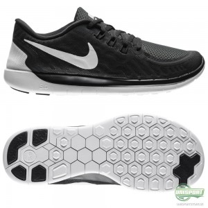 Nike Nike Free – Löparskor 5.0 Svart/Grå/Vit Barn
