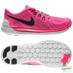 Nike Nike Free - Löparskor 5.0 Rosa/Vit/Svart Barn