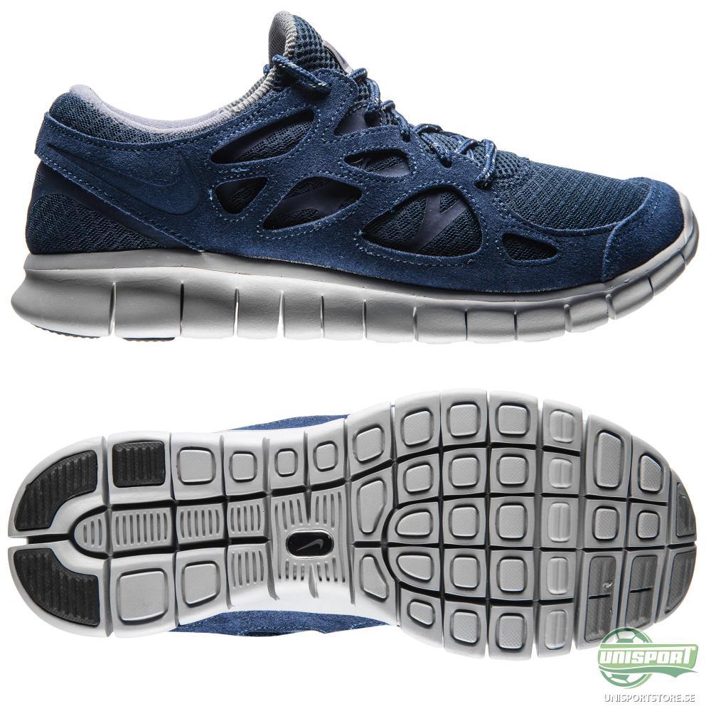 Nike Nike Free - Löparskor Run 2 Navy/Grå