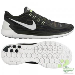 Nike Nike Free – Löparskor 5.0 Print Grön/Svart/Vit