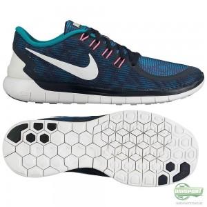 Nike Nike Free – Löparskor 5.0 Print Navy/Turkos/Vit Dam