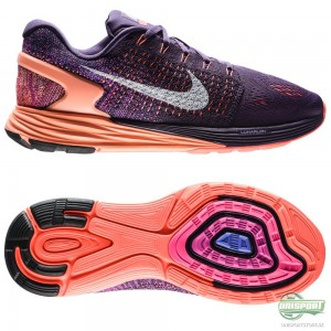 Nike Nike – Löparskor Lunarglide 7 Lila/Orange/Vit Dam