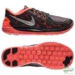 Nike Nike Free - Löparskor 5.0 Lava Svart/Röd Barn
