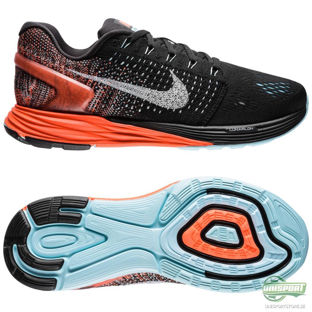 Nike Nike - Löparskor Lunarglide 7 Svart/Vit/Orange Dam