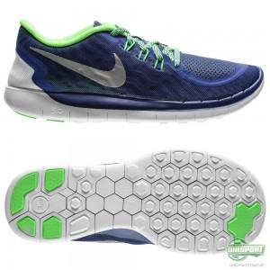 Nike Nike Free – Löparskor 5.0 Blå/Grön/Silver Barn