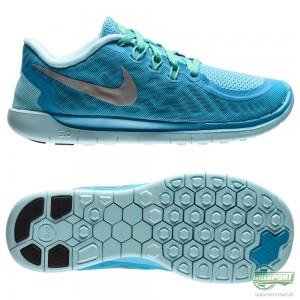 Nike Nike Free – Löparskor 5.0 Blå/Turkos/Silver Barn