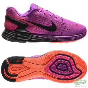 Nike Nike – Löparskor Lunarglide 7 Lila/Svart/Orange Dam