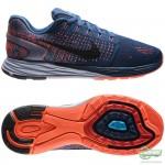 Nike Nike - Löparskor Lunarglide 7 Blå/Svart/Vit