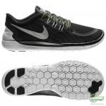 Nike Nike Free - Löparskor 5.0 Flash (GS) Svart/Silver Barn