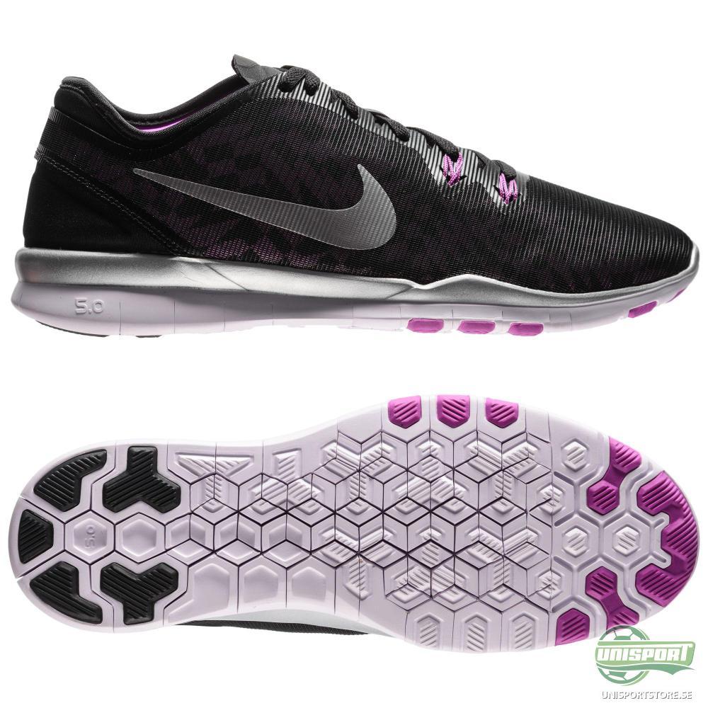 Nike Nike - Free 5.0 TR FIT 5 Svart/Silver/Lila Dam