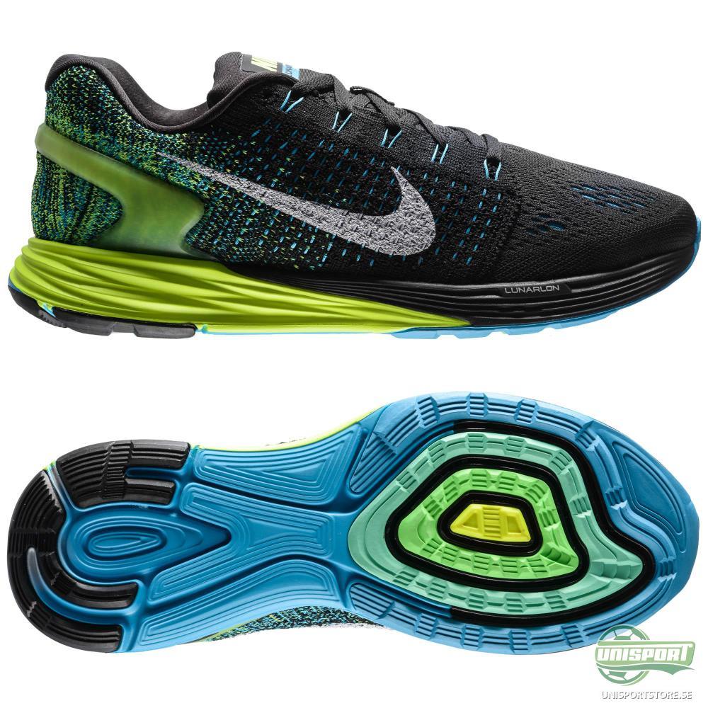 Nike Nike - Löparskor Lunarglide 7 Svart/Blå/Neon